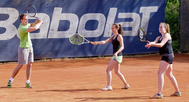 Tennistraining im Racket Center Nußloch